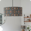 Drum fabric lamp shade / pendant shade Lodden Morris&co. lit Ø20