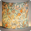 Fabric half lamp shade for wall light Golden Lily Morris&co. lit