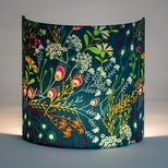Fabric half lamp shade for wall light Symphonie vert