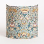 Fabric half lamp shade for wall light Lodden bleu gris Morris&co.