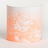 Fabric half lamp shade for wall light Pivoine néon