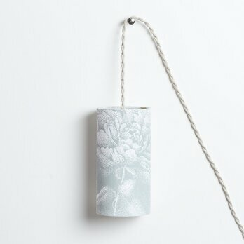 Fabric Plug-in pendant lamp Pivoine gris