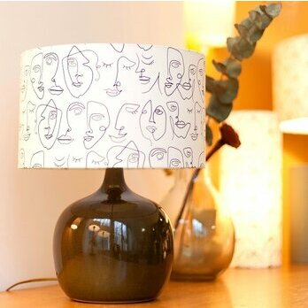 Drum fabric lamp shade / pendant shade Human