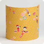 Fabric half lamp shade for wall light Kokeshi