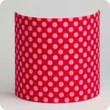 Fabric half lamp shade for wall light Grain de framboise