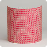 Fabric half lamp shade for wall light Red daisy
