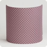 Fabric half lamp shade for wall light Plum stars