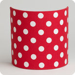 Fabric half lamp shade for wall light Red dingue