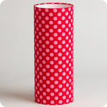 Cylinder fabric table lamp Grain de framboise