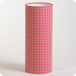 Cylinder fabric table lamp Red daisy