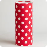 Cylinder fabric table lamp Red dingue