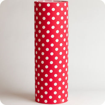 Cylinder fabric table lamp Red dingue XXL