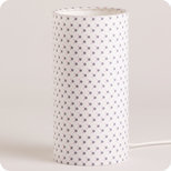 Cylinder fabric table lamp Mimi Pinson