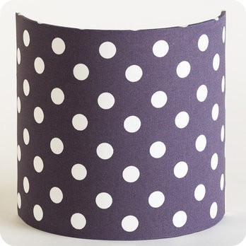Fabric half lamp shade for wall light Snow