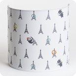 Fabric half lamp shade for wall light Fabuleuse Eiffel