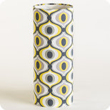 Cylinder fabric table lamp Groovy