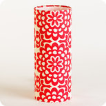 Cylinder fabric table lamp Flower power