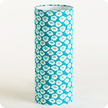 Cylinder fabric table lamp in Petit Pan fabric Osami