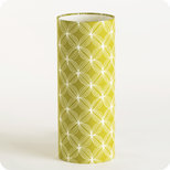 Cylinder fabric table lamp Spirograph