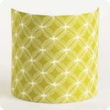 Fabric half lamp shade for wall light Spirograph