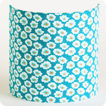 Fabric half lamp shade for wall light in Petit Pan fabric Osami