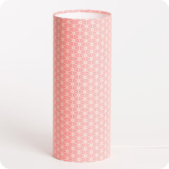 Cylinder fabric table lamp Hoshi M