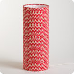 Cylinder fabric table lamp Aka