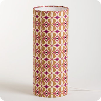 Cylinder fabric table lamp Mlle Baker M