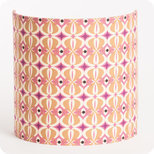 Fabric half lamp shade for wall light Mlle Baker