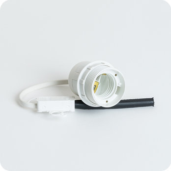 Cable set for wall light WHITE