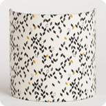 Fabric half lamp shade for wall light Twist