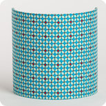 Fabric half lamp shade for wall light in Petit Pan fabric Hélium turquoise