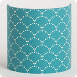 Fabric half lamp shade for wall light Asahi bleu