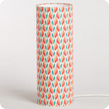 Cylinder fabric table lamp Tori