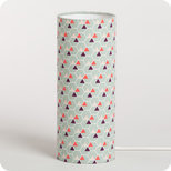 Cylinder fabric table lamp Hexagone