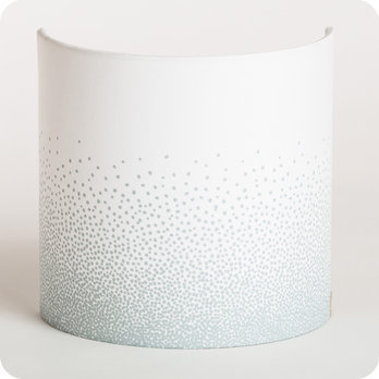 Fabric half lamp shade for wall light Poudre gris