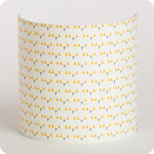 Fabric half lamp shade for wall light Mistinguett yellow