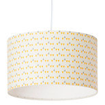 Drum fabric lamp shade / pendant shade Mistinguett yellow