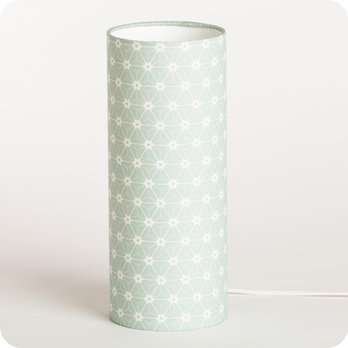 Cylinder fabric table lamp Ozora verdo M