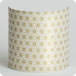 Fabric half lamp shade for wall light Hoshi or