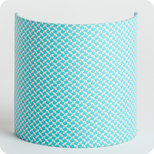 Fabric half lamp shade for wall light in Petit Pan fabric Pépin azur