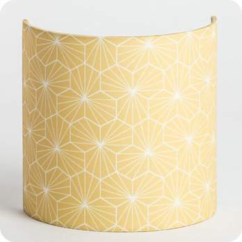 Fabric half lamp shade for wall light Pépite miel