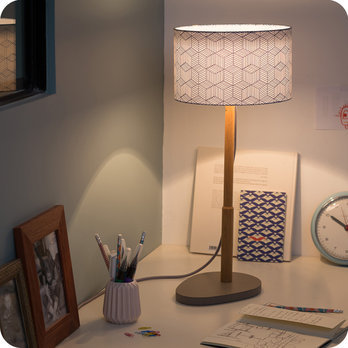 Helios table lamp with shade Cinetic indigo Ø25