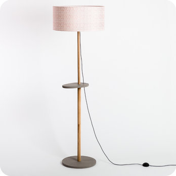 Eos floor lamp with shade Cinetic corail Ø50