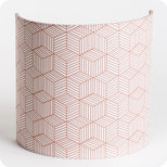 Fabric half lamp shade for wall light Cinetic corail