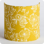 Fabric half lamp shade for wall light Simone