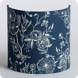 Fabric half lamp shade for wall light Blue Simone