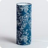 Cylinder fabric table lamp Blue Simone