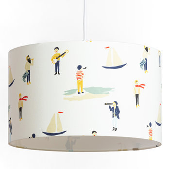 Drum fabric pendant shade Luxembourg Ø30