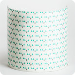 Fabric half lamp shade for wall light Mistinguett turquoise
